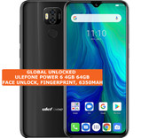 ulefone power 6 4gb 64gb octa-core 16mp fingerprint 6.3 android smartphone black