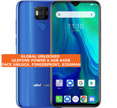ulefone power 6 4gb 64gb octa-core 16mp fingerprint 6.3 android smartphone blue