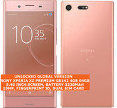 "sony xperia xz premium g8142 4gb 64gb dual sim 19mp finger id 5.49"" android pink"