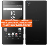 sony xperia z5 premium e6883 3gb 32gb dual sim 23mp fingerprint android 4g black