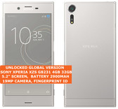 "sony xperia xzs g8231 4gb 32gb quad core 19mp hdr finger id 5.2"" android silver"