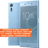 "sony xperia xzs g8231 4gb 32gb quad core 19mp hdr finger id 5.2"" android blue"