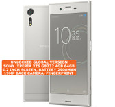 "sony xperia xzs g8232 4gb 64gb quad core dual sim 19mp 5.2"" android 4g silver"