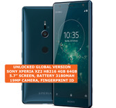 "sony xperia xz2 h8216 4gb 64gb octa-core 19mp fingerprint 5.7"" android 4g green"