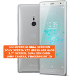 "sony xperia xz2 h8296 4gb 64gb dual sim 19mp fingerprint 5.7"" android lte silver"