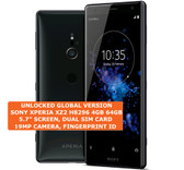 "sony xperia xz2 h8296 4gb 64gb dual sim 19mp fingerprint 5.7"" android lte black"
