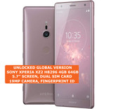 "sony xperia xz2 h8296 4gb 64gb dual sim 19mp fingerprint 5.7"" android lte pink"