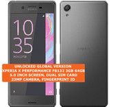 sony xperia x performance f8132 3gb 64gb black 23mp dual sim android smartphone