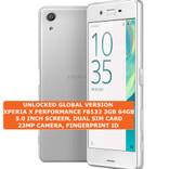 sony xperia x performance f8132 3gb 64gb white 23mp dual sim android smartphone