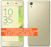 sony xperia x performance f8132 3gb 64gb gold 23mp dual sim android smartphone