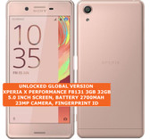 sony xperia x performance f8131 3gb 32gb pink 23mp fingerprint android 4g lte