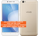 "vivo y66 3gb 32gb octa core 16mp selfie camera 5.5"" android lte smartphone gold"