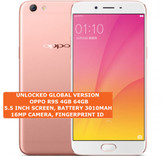 "oppo r9s 4gb 64gb octacore 16mp fingerprint id 5.5"" android smartphone rose gold"