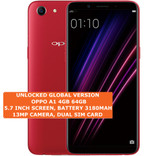 "oppo a1 4gb 64gb octa-core dual sim 13mp led flash 5.7"" android smartphone red"
