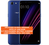 "oppo a1 4gb 64gb octa-core dual sim 13mp led flash 5.7"" android smartphone blue"