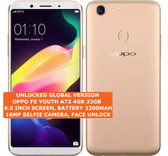 """oppo f5 youth a73 4gb 32gb octa-core dual sim 13mp fingerprint 6"""" android gold"""