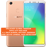 "oppo a79 4gb 64gb quad core 16mp fingerprint id 6.1"" android 4g smartphone gold"