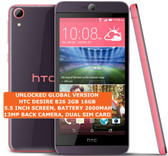 "htc desire 826 2gb 16gb octa-core 13mp led flash 5.5"" android smartphone purple"