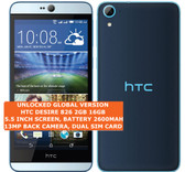 "htc desire 826 2gb 16gb octa-core 13mp led flash 5.5"" android smartphone blue"