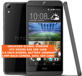 "htc desire 826 2gb 16gb octa-core 13mp led flash 5.5"" android smartphone gray"