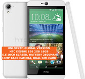"htc desire 826 2gb 16gb octa-core 13mp led flash 5.5"" android smartphone white"