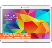 "samsung galaxy tab 4 10.1 t530 16gb quad-core 10.1"" wifi android tablet pc white"
