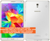 samsung galaxy tab s sm-t705 3gb 16gb quadcore 8mp fingerprint 8.4 android white
