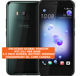 "htc u11 4gb 64gb octa-core 16mp dual sim 5.5"" android 7.0 smartphone lte black"