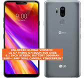 "lg g7 thinq g710ulm 4gb 64gb octa-core 16mp fingerprint 6.1"" android 8 lte gray"
