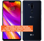 "lg g7 thinq g710ulm 4gb 64gb octa-core 16mp fingerprint 6.1"" android 8 lte black"