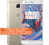 "oneplus 3 6gb 64gb quad-core 16mp fingerprint 5.5"" android smartphone lte gold"