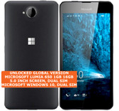 "microsoft lumia 650 16gb quad-core dual sim 8mp 5.0"" windows 10 mobile lte black"