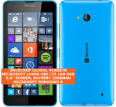 "microsoft lumia 640 8gb quad-core 8mp camera 5.0"" windows phone smartphone blue"