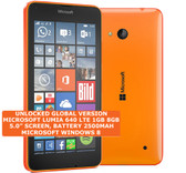 "microsoft lumia 640 8gb quad-core 8mp camera 5.0"" windows phone smartphone orange"