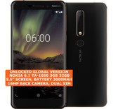 "nokia 6.1 ta-1050 3gb 32gb octa-core 16mp fingerprint 5.5"" android 8 phone black"