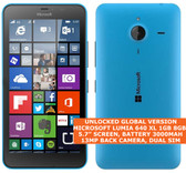 microsoft lumia 640 xl ta-1096 8gb quadcore 13mp camera 5.7 windows phone blue