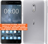 nokia 6 ta-1000 3gb 32gb octa-core 16mp fingerprint 5.5 android smartphone white