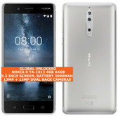 "nokia 8 ta-1012 4gb 64gb octa-core 13mp fingerprint 5.3"" android smartphone gray"