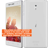 nokia 3 ta-1032 2gb 16gb quad-core 8mp dual sim android 7 smartphone 4g white