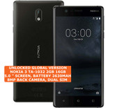 nokia 3 ta-1032 2gb 16gb quad-core 8mp dual sim android 7 smartphone 4g black
