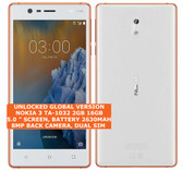 nokia 3 ta-1032 2gb 16gb quad-core 8mp dual sim android smartphone copper white