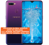 oppo f9 4gb 64gb octa-core 16mp fingerprint 6.3 inch android smartphone purple