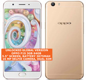 "oppo f1s 3gb 64gb octa-core 13mp fingerprint 5.5"" android smartphone lte gold"