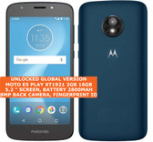 "motorola moto e5 play xt1921 2gb 16gb quad-core 8mp 5.2"" android smartphone blue"