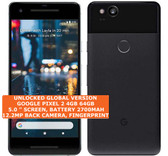 "google pixel 2 4gb 64gb octa-core 12.2mp fingerprint 5"" android smartphone black"
