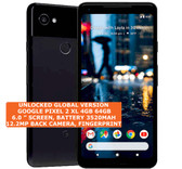 "google pixel 2 xl 4gb 64gb octa-core 12.2mp 6.0"" android smartphone 4g lte black"