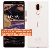 "nokia 7 plus ta-1055 4gb 64gb octa-core 13mp fingerprint 6.0"" android lte white"