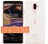 "nokia 7 plus ta-1055 4gb 64gb octa-core 13mp fingerprint 6.0"" android lte white"