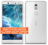 nokia 7 ta-1041 4gb 64gb octa-core 16mp fingerprint 5.2 android smartphone white