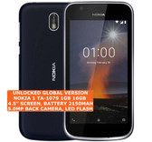 "nokia 1 ta-1079 16gb quad-core 5.0mp single sim 4.5"" android lte smartphone 4g blue"